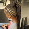 High Ponytail Hairstyles With Jumbo Cornrows (Photo 11 of 25)