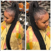 High Ponytail Hairstyles With Jumbo Cornrows (Photo 14 of 25)