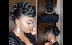 Athenian Goddess Faux Hawk Updo Hairstyles