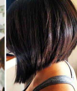 Long Inverted Bob Back View Hairstyles
