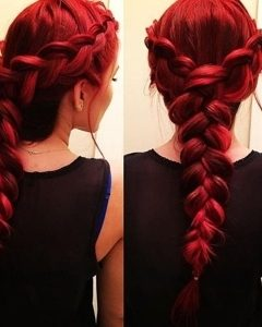 Red Braided Hairstyles