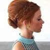 Vintage Inspired Braided Updo Hairstyles (Photo 15 of 25)