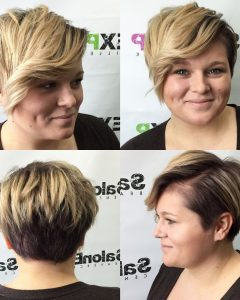 Disconnected Blonde Balayage Pixie Haircuts