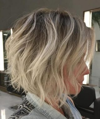Shaggy Fade Blonde Hairstyles