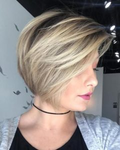 Short Ash Blonde Bob Hairstyles With Feathered Bangs