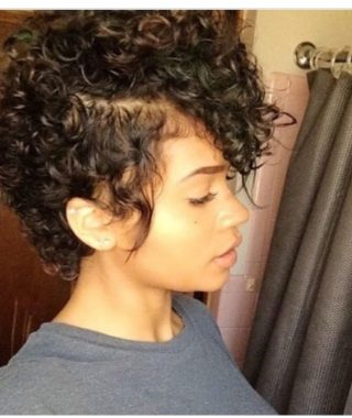 Long Curly Pixie Hairstyles