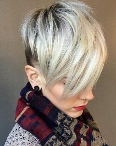 Gray Blonde Pixie Hairstyles