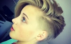 Short Hairstyles Shaved Side