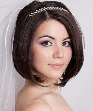 Wedding Hairstyles For Short Hair And Bangs
