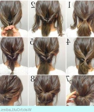 Easy Updo Hairstyles For Fine Hair Medium