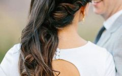 Curls Clipped To The Side Bridal Hairstyles