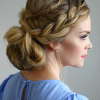 French Braid Crown And Bun Updo (Photo 7 of 15)