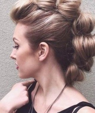 Two-Tone High Ponytail Hairstyles With A Fauxhawk