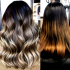 Ash Blonde Balayage Ombre On Dark Hairstyles
