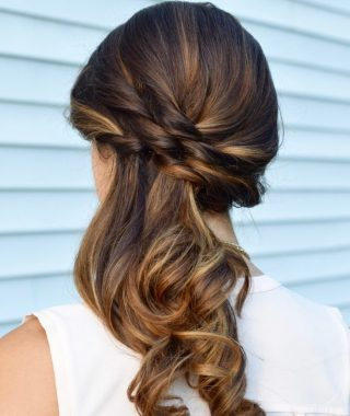 Long Hair Side Ponytail Updo Hairstyles