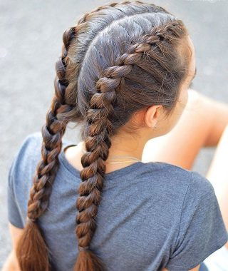 Three Strand Pigtails Braided Hairstyles