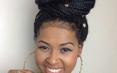 Box Braids Updo Hairstyles
