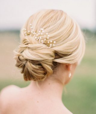 Chignon Wedding Hairstyles With Pinned Up Embellishment