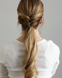 Topsy-Tail Low Ponytails