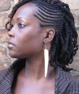 Nubian Princess Fulani Braid Pullback