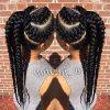 Chunky Black Ghana Braids Ponytail Hairstyles (Photo 12 of 25)