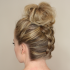 Upside-Down Braids Into Messy Bun