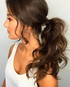 Brunette Prom Ponytail Hairstyles